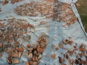 पंडितपुरमा उत्खनन गरीएका पुरातत्व वस्तु नष्ट हुदै